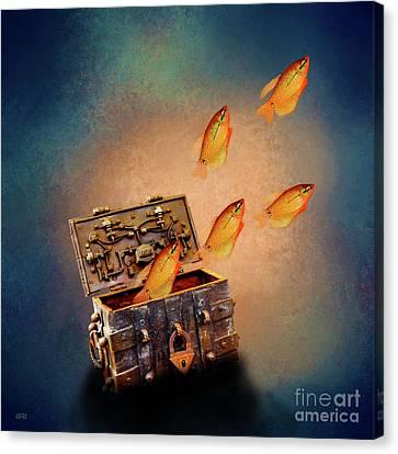 Treasure Chest Canvas Print by KaFra Art