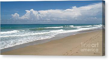 Treasure Coast Beach Florida Seascape C4 Canvas Print by Ricardos Creations