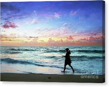 Treasure Coast Florida Seascape Dawn D6 Canvas Print