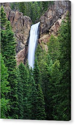 Canvas Print featuring the photograph Treasure Falls by David Chandler