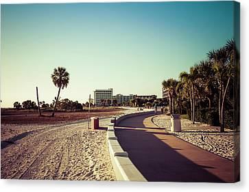 Canvas Print featuring the photograph Treasure Island Beach Trail by Joel Witmeyer