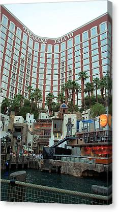 Treasure Island Hotel And Casino Las Vegas Nevada Canvas Print by Alan Espasandin