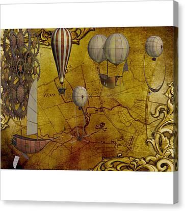 Treasure Map Canvas Print by Shannon Jordan