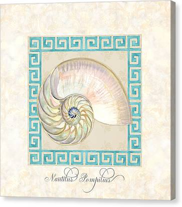 Treasures From The Sea - Nautilus Shell Interior Canvas Print by Audrey Jeanne Roberts