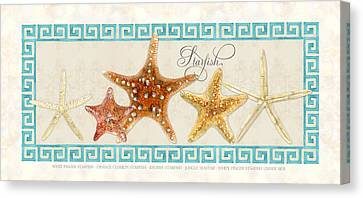 Knobby Canvas Print - Treasures From The Sea - The Chorus Line by Audrey Jeanne Roberts