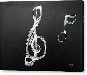 Canvas Print featuring the painting Treble Clef by Richard Le Page