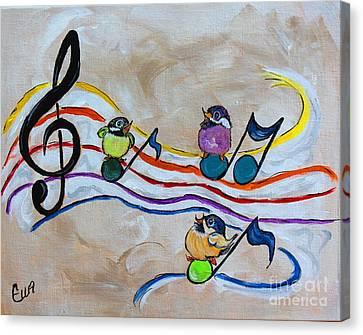 Treble Clef Trio Canvas Print