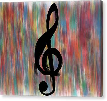 Singing Canvas Print - Treble Cleff by Dan Sproul