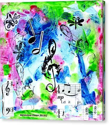 Sound Canvas Print - Treble Mp by Genevieve Esson