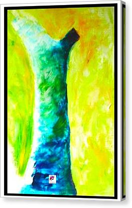 Canvas Print featuring the painting Tree 1 Peninsula Rain Forest by Carol Rashawnna Williams
