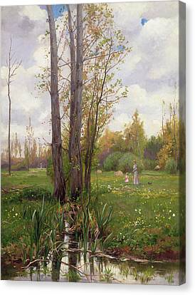 Tree Beside Water  Canvas Print by Ernest Le Villain