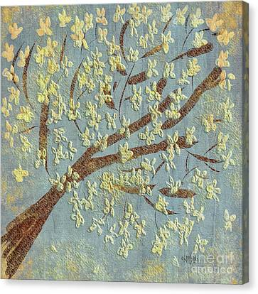 Canvas Print featuring the digital art Tree Blossoms by Lois Bryan