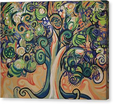 Tree Candy Canvas Print by Genevieve Esson