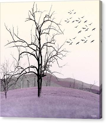Tree Change Canvas Print by Holly Kempe