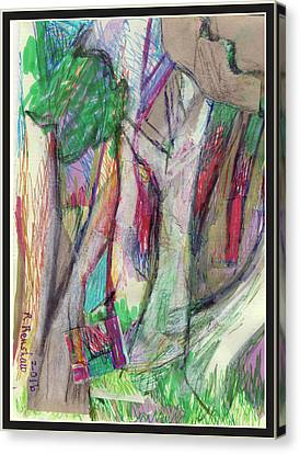 Tree Collage Canvas Print by Ruth Renshaw