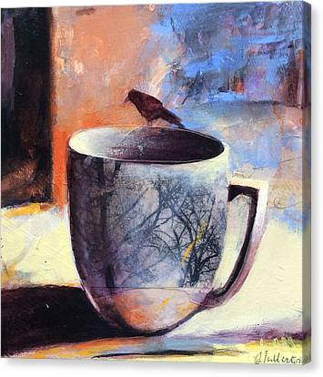 Tree Cup Canvas Print by Joan Fullerton