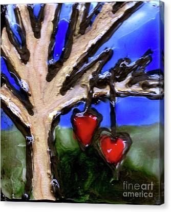 Tree Hearts Canvas Print by Genevieve Esson