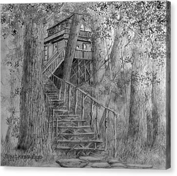 Tree House #1 Canvas Print by Jim Hubbard