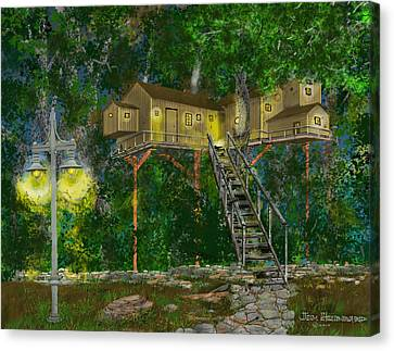 Tree House #10 Canvas Print by Jim Hubbard