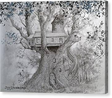 Tree House #2 Canvas Print by Jim Hubbard