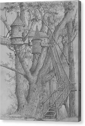 Tree House #3 Canvas Print by Jim Hubbard