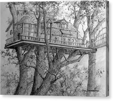 Tree House #4 Canvas Print by Jim Hubbard
