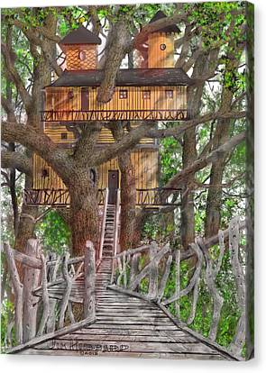 Tree House #6 Canvas Print by Jim Hubbard