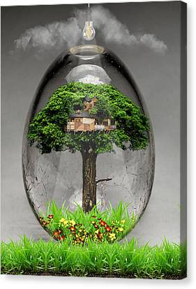 Tree House Art Canvas Print
