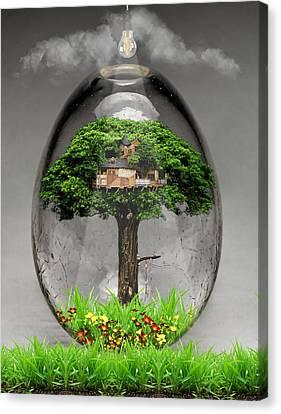 Trees Canvas Print - Tree House Art by Marvin Blaine