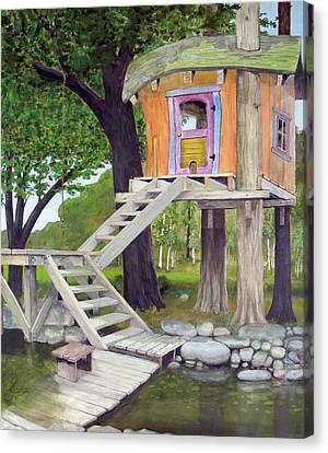 Tree House Pond Canvas Print by Will Lewis