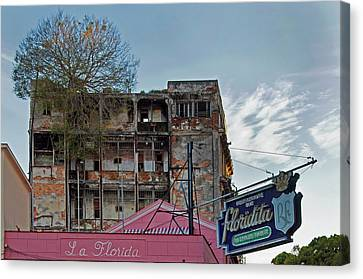 Canvas Print featuring the photograph Tree In Building Over La Floridita Havana Cuba by Charles Harden