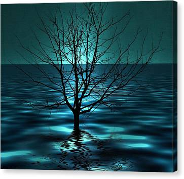 Survive Canvas Print - Tree In Ocean by Marianna Mills