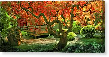 Tree, Japanese Garden Canvas Print