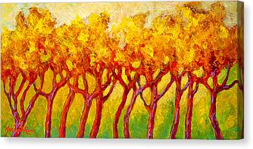 Tree Line Canvas Print by Marion Rose