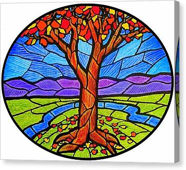Tree Of Grace - Autumn Canvas Print