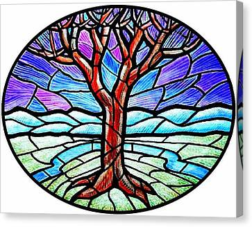 Tree Of Grace - Winter Canvas Print