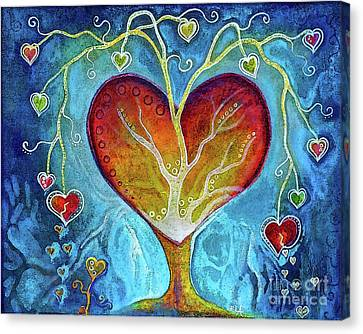 Tree Of Hearts Canvas Print