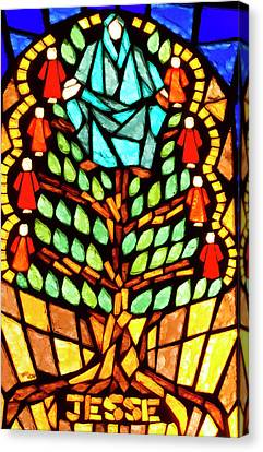 Canvas Print - Tree Of Jesse Stained Glass by Jean Noren