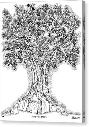 Tree Of Life 1 Canvas Print by Glenn McCarthy Art and Photography