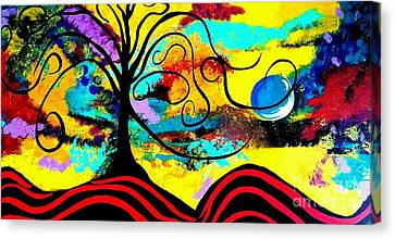 Tree Of Life Abstract Painting  Canvas Print