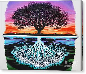 Tree Of Life And Negative Canvas Print