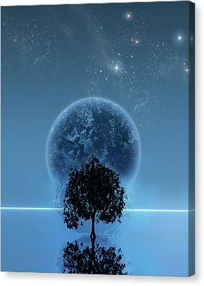 Mix Media Canvas Print - Tree Of Life by Andreas  Leonidou