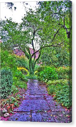 Tree Of Life At St. Luke In The Field Church Canvas Print by Randy Aveille