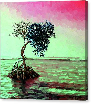 Tree Of Life - Crimson Tide Canvas Print by Serge Averbukh
