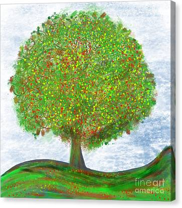 Tree Of Life Canvas Print by Edward Fielding