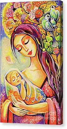 Canvas Print featuring the painting Tree Of Life by Eva Campbell