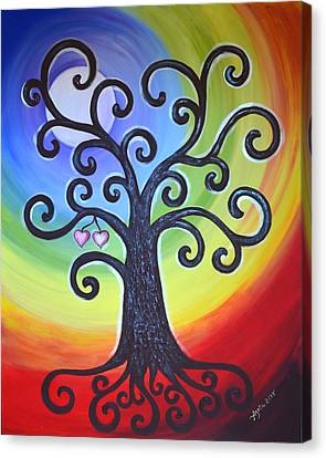 Tree Of Life Love And Togetherness Canvas Print