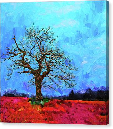 Tree Of Life - Out Of The Blue Canvas Print by Serge Averbukh