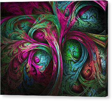 Tree Of Life-pink And Blue Canvas Print by Tammy Wetzel