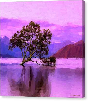 Tree Of Life - Violet Dream Canvas Print by Serge Averbukh